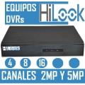 EQUIPOS DVR HILOOK 4 8 Y 16  CANALES