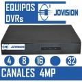 EQUIPOS DVR JOVISION 4, 8 , 16  Y 32  CANALES  4MP